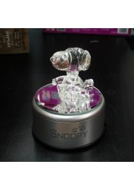 Snoopy Glass with Colourful Light Music Box