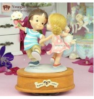 Puppy Love Happy Dancing Music Box