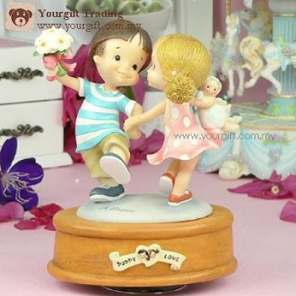 Puppy Love Hy Dancing Music Box