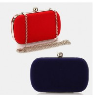 Japanese Korean Fashion Velvet Clutches/Dinner Bag/vening Bag