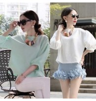 Puff Sleeved Both Size Wearing Blouse