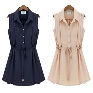 Casual Chiffon Sleeveless Dress