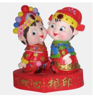 Two Lovable Babies Wedding Ornaments