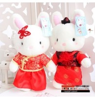 White Rabbit Chinese Wedding Plush