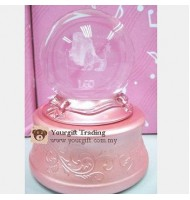 [Defect] 7 Colour Luminous Crystal Ball Music Box-Leo CS0159