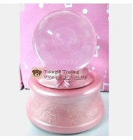 7 Colour Luminous Crystal Ball Music Box-Virgo