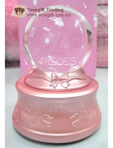 7 Colour Luminous Crystal Ball Music Box-Pisces
