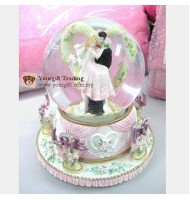 Happy Wedding Crystal Ball Music Box