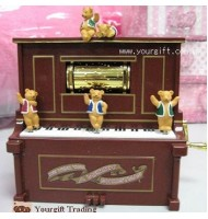 Piano Bears Music Box