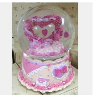 Romance Heart Shape Crystal Ball Music Box