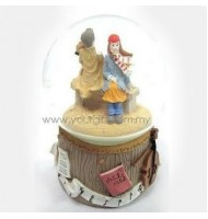 Playing Violin Water Globe Music Box