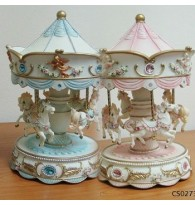 Carousel Moving Horses Music Box