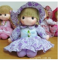Big Flower Dress Music Doll Music Box
