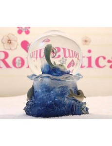 Dolphin Luminous Water Globe Music Box