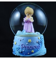 Precious Moment Shell Girl Water Globe Music Box