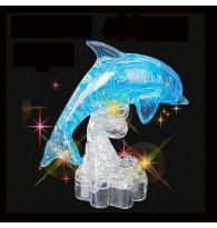3D Dolphin Crystal Puzzle with Flash