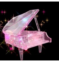 3D Piano Crystal Puzzle, Light-Up Musical