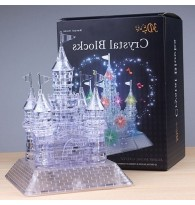 3D Crystal Puzzle Castle with Colourful Light
