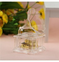 Mini Retro Transparent Gramophone Music Box