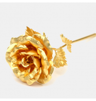24K Gold Foil Open Rose Flower