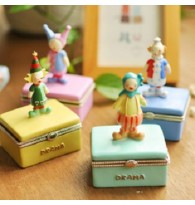 Fantastic Clown Figurines Jewellery Box