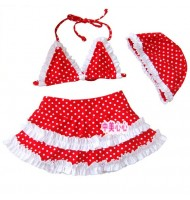 Baby Girl Red Bikini Swimwear