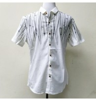 Men's Short Sleeve Button Down Pattern Print Shirt