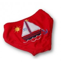 Little Boys Swim Trunks - Sailboat