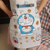 Doraemon PE Waterproof & Oil-proof Transparent Apron