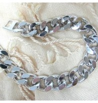 Men Titanium Chain Bracelet
