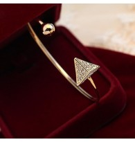 Triangle Rhinestone Half Bangle