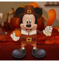 Thanksgiving Mickey candy 3D PaperCraft