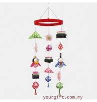 Japanese Doll Hanging Ornaments DIY 3D Papercraft