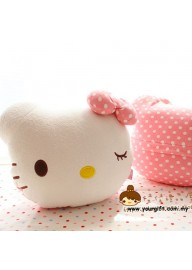 Hello Kitty Pillow Blanket - Wink Eye