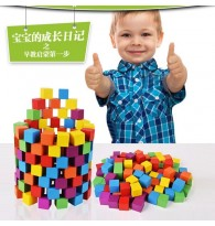 Learning Resources Wooden Color 100 Cubes