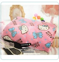Kitty Bow Knot Rose Fleece Throw Blanket