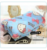 Hello Kitty Blue Fleece Blanket