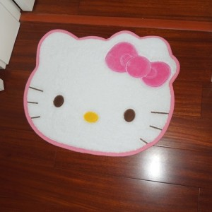 Hello Kitty Bow Floor Mat Rug