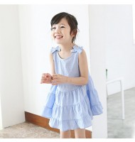Bow Knot Off Shoulder Girls Dress