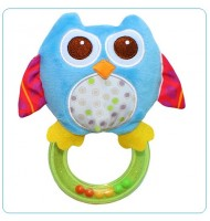 Blue Owl Baby Rattle Toy