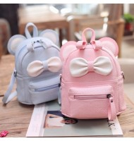 2 in 1 PU Leather Backpack Shoulder Bag
