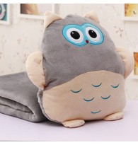 3 in 1 Owl Hand Warmer Blanket Cushion