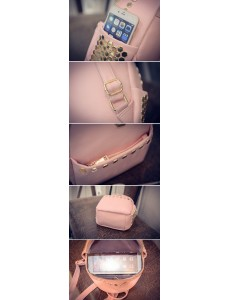 Korean Fashion Soft Surface Hexagon Nails Backpack