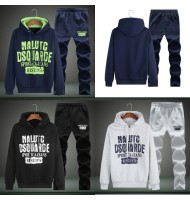 Mens Tracksuit Set Fleece Top Bottoms
