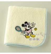 Minnie Playing Tennis Beige Towel Handkerchief