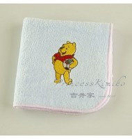 Pooh with Football Towel Handkerchief