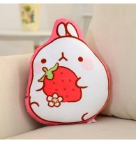 Cute Malong Bunny with Strawberry Cushion