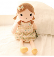 Apricot Floral Skirt Plush Doll
