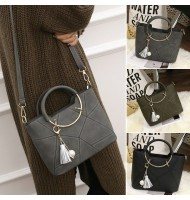 Korean Fashion Ring Handle Women's Handbags Shoulder Bag