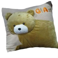 3D Bear Head Cushion Plush